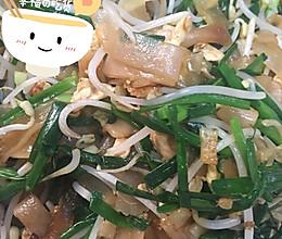 干炒韭菜鸡蛋豆芽炒河的做法