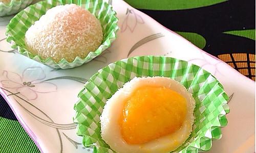 芒果椰香糯米糍的做法