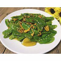 荷兰豆炒虫草花