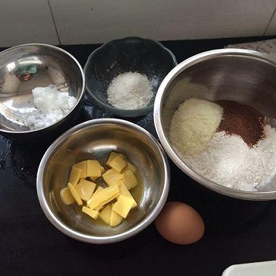 巧克力奶酥饼的做法 步骤1