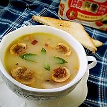奶油蘑菇汤#一起吃西餐#