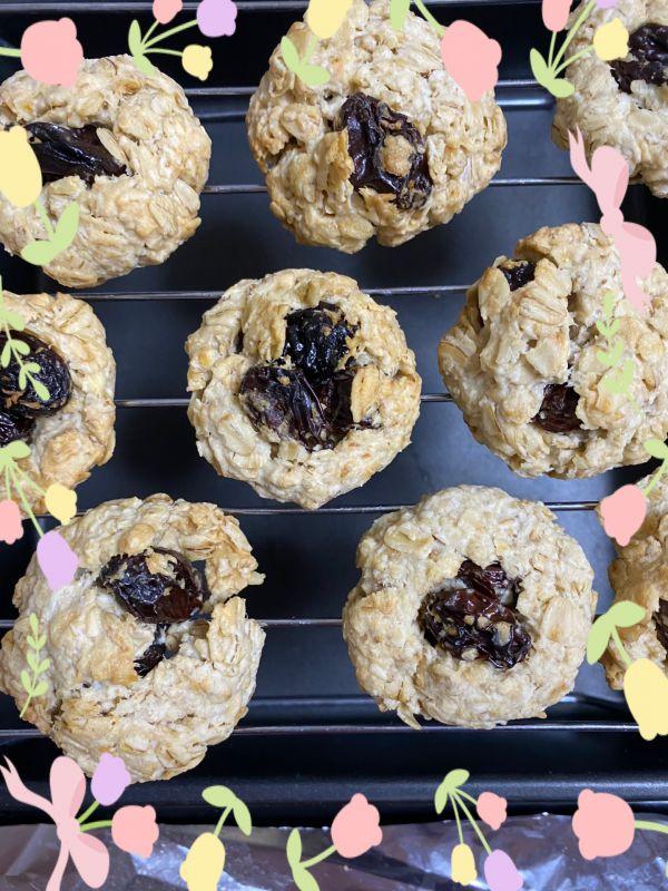 健康燕麦葡萄干小饼的做法