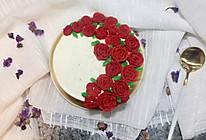 白豆沙裱花生日蛋糕的做法