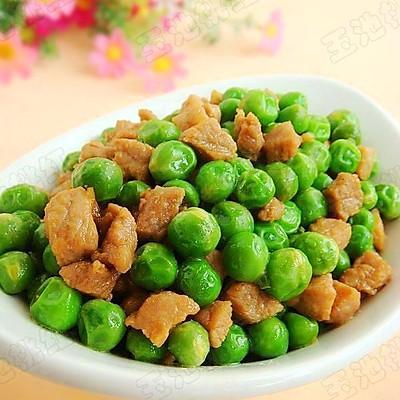 青豌豆炒肉丁