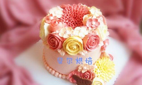 #九阳烘焙剧场#如何做一款好吃不油腻的韩式裱花蛋糕的做法