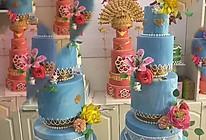 翻糖鲜花蛋糕的做法