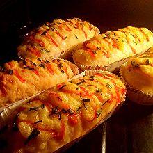 之香葱芝士面包#东菱魔力果趣面包机#