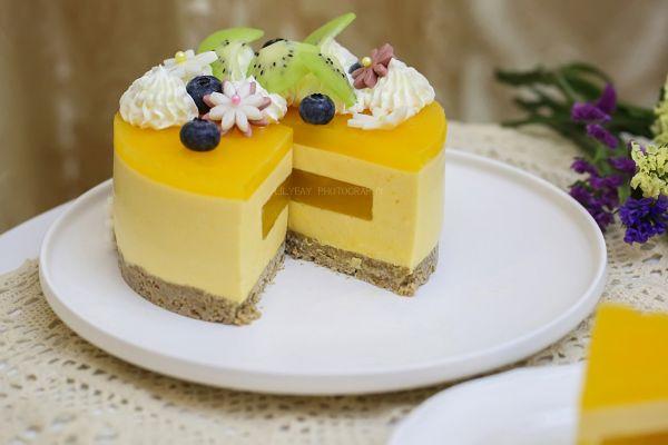 百香果南瓜慕斯生日蛋糕(百香果果冻夹层)的做法