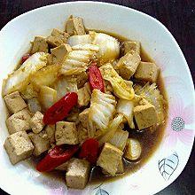 酱油白菜炖豆腐