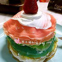 草莓彩虹千层蛋糕(追逐天空之美)的做法图解19