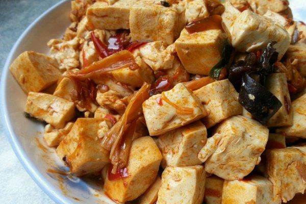 乐乐自家菜--麻辣豆腐的做法