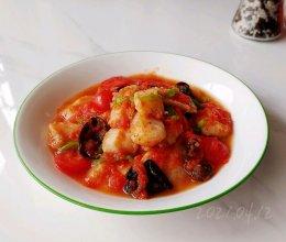 黑椒茄汁焖鱼块