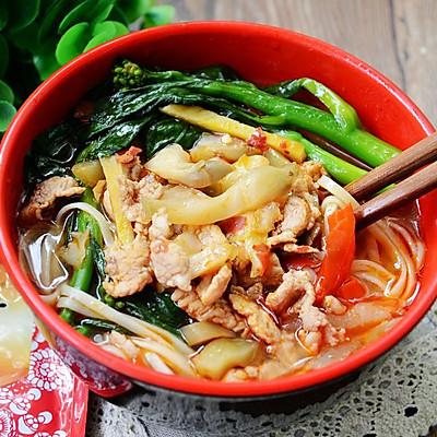 香辣榨菜肉丝面--乌江榨菜