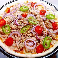 金枪鱼鲜虾披萨的做法图解8