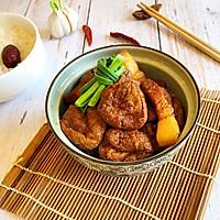 油豆腐烧肉的做法图解5