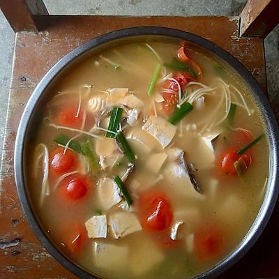 西红柿豆腐鱼汤(3-4人量)