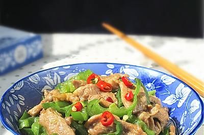 青椒炒鸭肉片