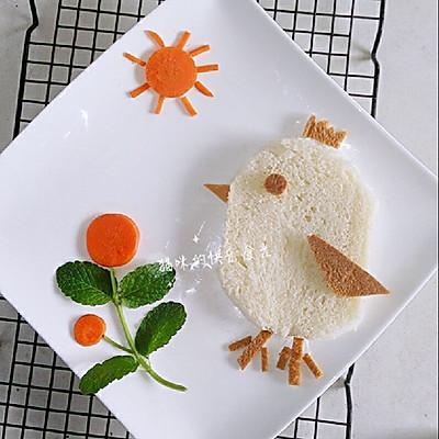 早餐---萌萌哒的小鸟面包