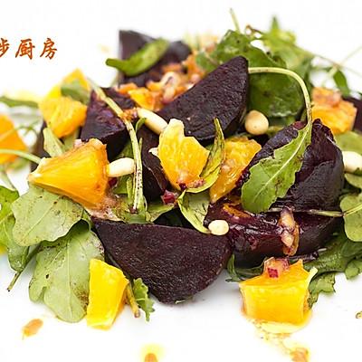 曼步厨房 - 软糯爽口 - 香橙甜菜根沙拉