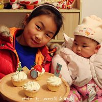 海绵纸杯蛋糕~圣诞节可爱小点心#九阳烘焙剧场#的做法图解16