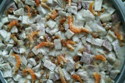虾米腊肉芋头糕