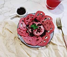 """莓味胭脂藕#""""莓""""好春光日志#的做法"""