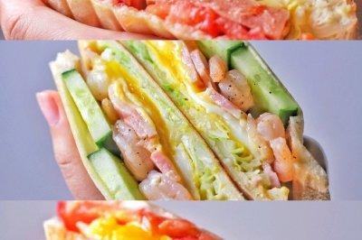 3款超丰盛高颜值三明治