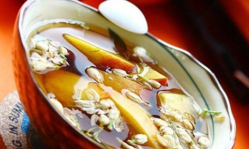 桃子红糖茉莉花甜汤水的做法