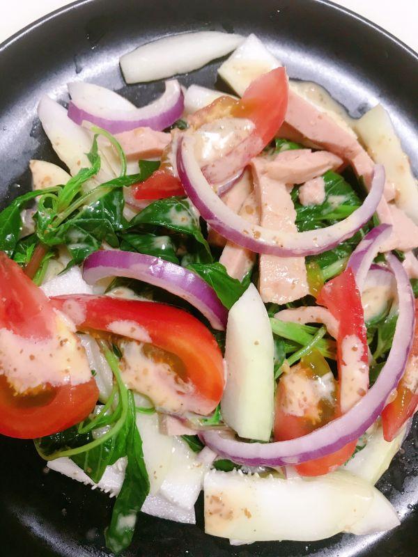 简单的蔬菜沙拉的做法