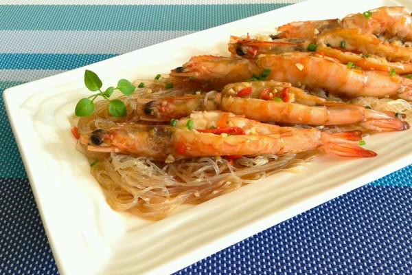 粉丝蒜蓉开边虾的做法