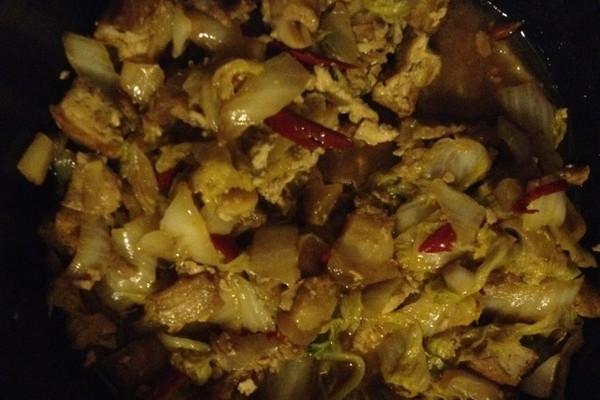 白菜豆腐炖肉皮的做法