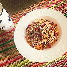 健康鸡丝红薯泥沙拉