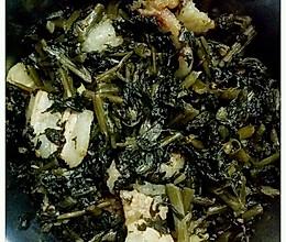 萝卜叶酸菜炒五花肉的做法