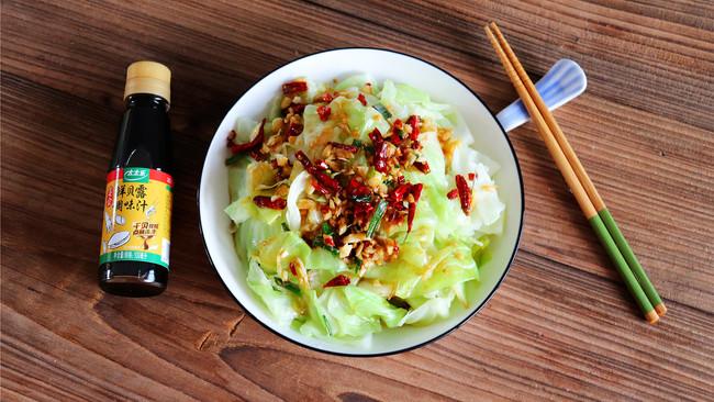 鲜贝露春日尝鲜+凉拌手撕包菜的做法