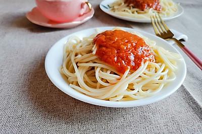 西红柿牛肉酱意面