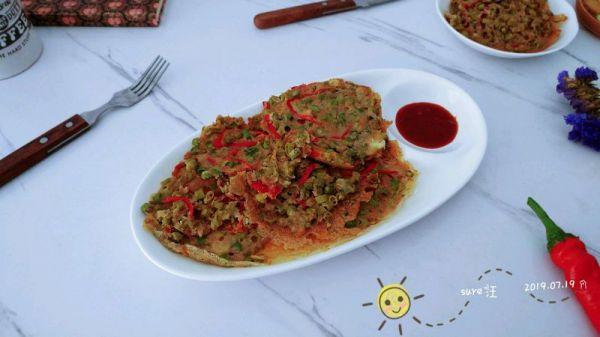 葱香椒椒燕麦饼的做法