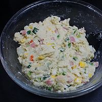外酥里嫩的鲜蔬土豆饼,简单快手的营养早餐,可做小吃可做主食的做法图解3