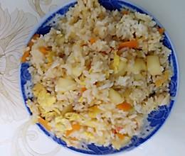 胡萝卜苹果番茄蛋炒饭的做法
