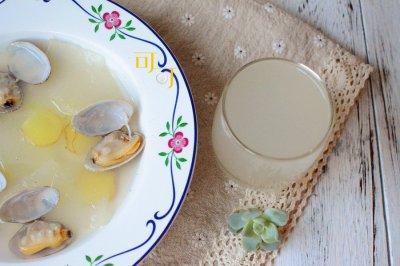 冬瓜花蛤汤:夏天清淡无油消暑海鲜汤