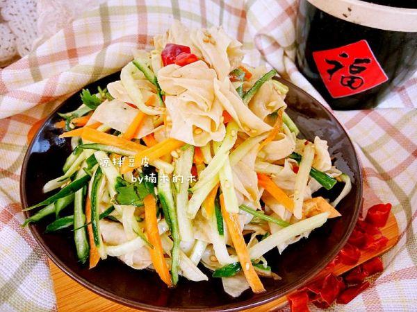 凉菜-黄瓜拌豆腐皮的做法