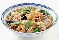 虾仁丸子汤面的做法