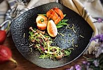 烤鸡肉卷配时蔬沙律的做法