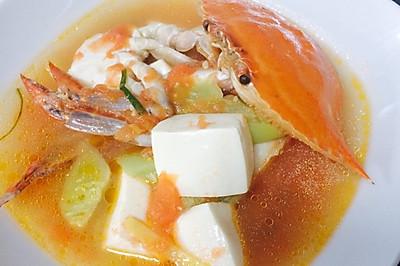 梭子蟹番茄豆腐汤