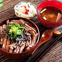 简单快速的日式牛排丼(盖饭)的做法图解11