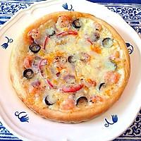 培根虾仁披萨的做法图解7