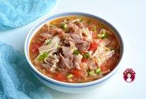 番茄金针菇肥牛汤的做法