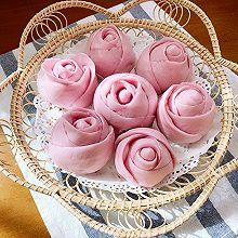 #餐桌上的春日限定#紫薯玫瑰花