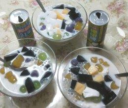 彩色饮品的做法