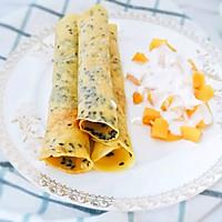 12M+平底锅黑芝麻蛋卷:宝宝辅食营养食谱菜谱的做法图解9