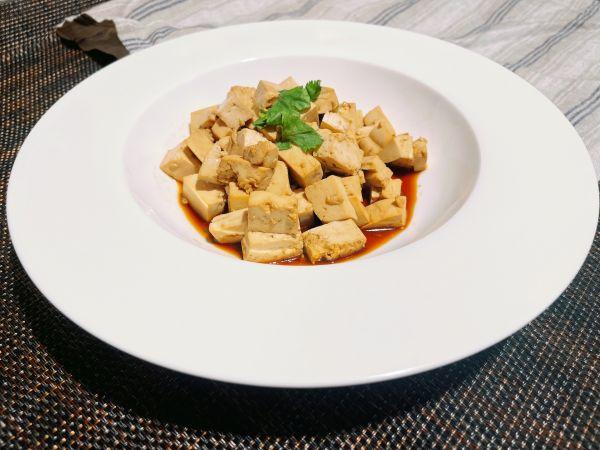 素食酱拌豆腐的做法